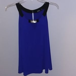 Blue sleeveless Cure top